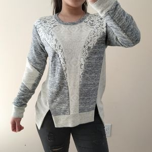 Rebecca Taylor lacey crewneck sweater